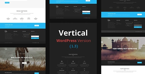 Vertical- One Page Multipurpose WordPress Theme