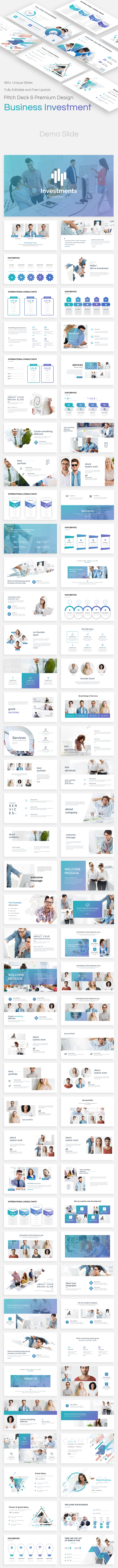 Business Investments Pitch Deck Powerpoint Template