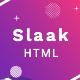 Slaak - Creative Multi-purpose Parallax HTML Landing Template + RTL - ThemeForest Item for Sale
