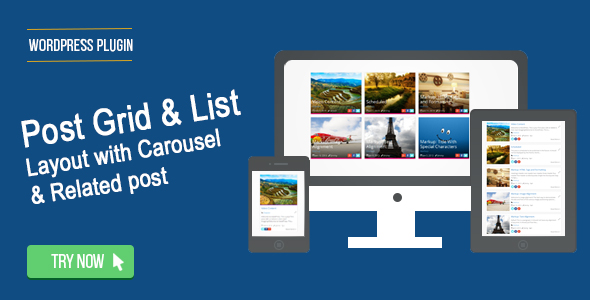 Wordpress Post Grid / List / Timeline Layout With Carousel & Related Post