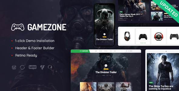 Gamezone | Video Gaming Blog & Esports Store WordPress Theme