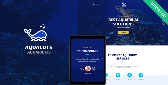 Aqualots | Aquarium Installation and Maintanance Services WordPress Theme