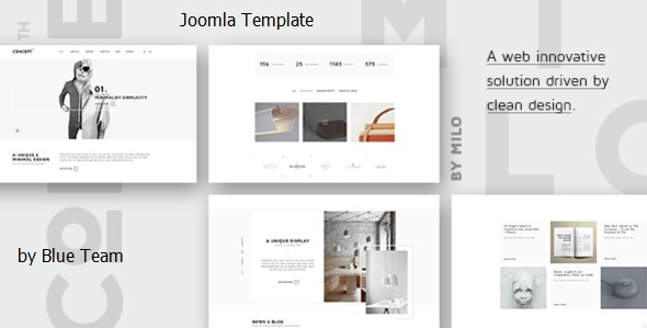 Concept - Design-Driven Multipurpose Joomla Template