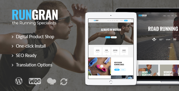 Run Gran | Sports Apparel & Gear Store WordPress Theme