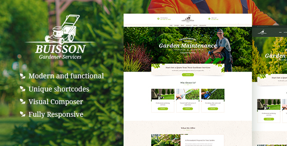 Buisson | Gardening & Landscaping Services WordPress Theme