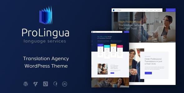 ProLingua | Translation Bureau & Interpreting Services WordPress Theme