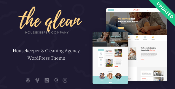 The Qlean | Housekeeping: Washing & Cleaning Company WordPress Theme