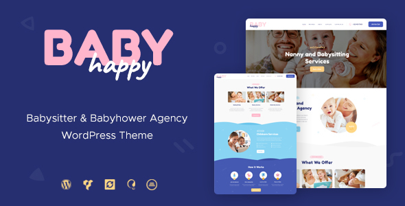Happy Baby | Nanny & Babysitting Services Children WordPress Theme