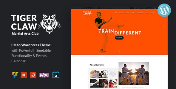 Tiger Claw | Martial Arts School and Fitness Center WordPress Theme Free Download