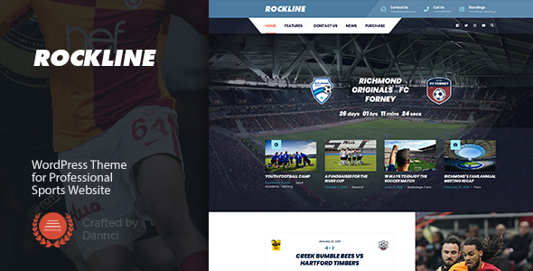 Rockline - Sport News and Club WordPress Theme