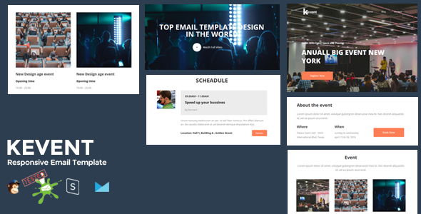 KEVENT - Best Responsive Event Email Template + Online Stampready Builder 1