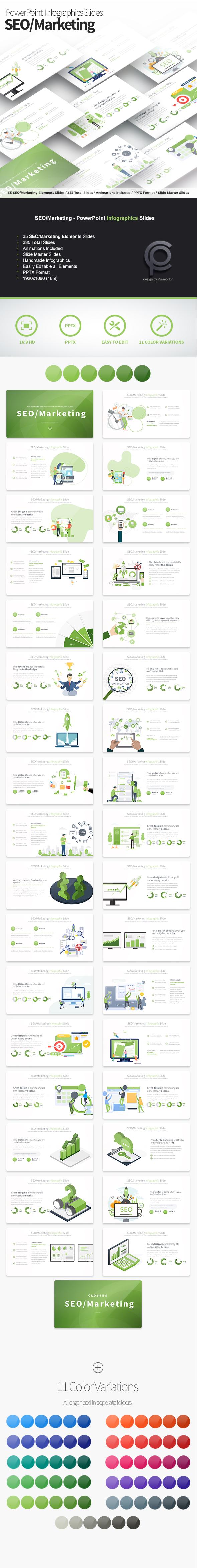 SEO/Marketing - PowerPoint Infographics Slides
