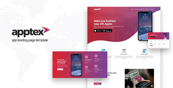Apptex | App Landing Page Template