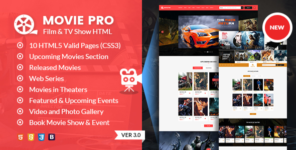 Movie Pro - Film and TV Show HTML Template