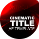 Cinematic Design Titles - VideoHive Item for Sale