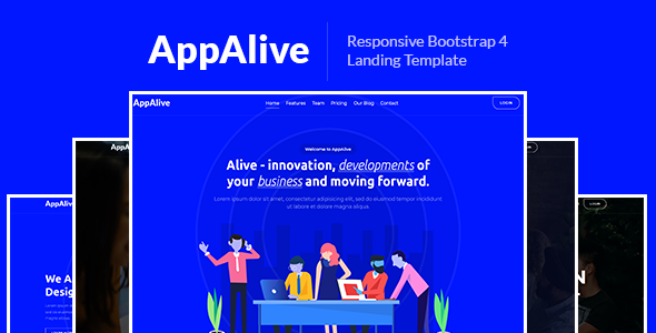 AppAlive – Responsive Bootstrap 4 Landing Template