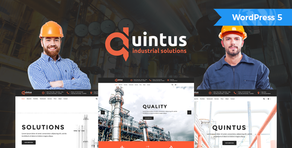 Quintus - Industry / Factory / Engineering WordPress Theme