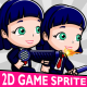 Bussiness Woman Cartoon 2D Game Character Sprite - GraphicRiver Item for Sale