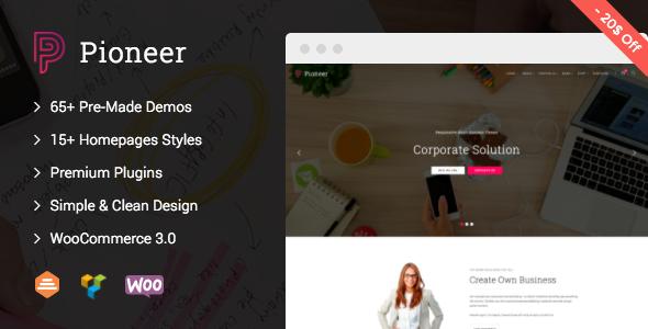 Pioneer – Multi-Concept Corporate WordPress Theme