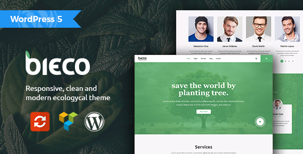 Bieco - Environment & Ecology WordPress Theme