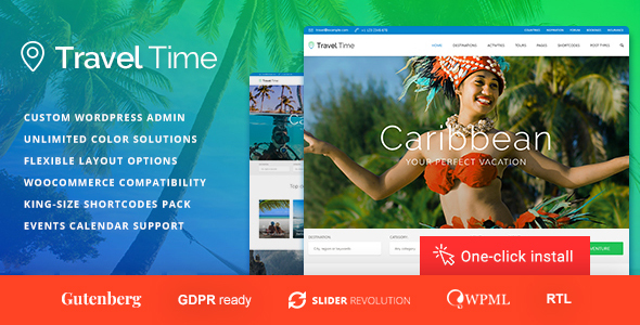 Travel Time - Tour and Hotel WordPress Theme