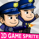 Police Man 2D Game Character Sprite - GraphicRiver Item for Sale