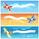 Set of Airlane with Blank Banner - GraphicRiver Item for Sale