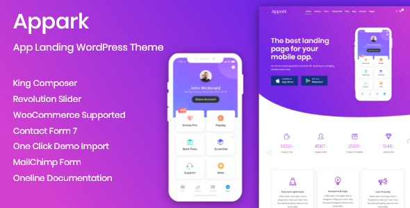 Appark - App Landing Page