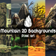 2D Game Mountain Backgrounds Pixel Art - GraphicRiver Item for Sale