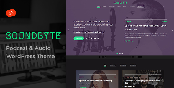 Soundbyte - Podcast/Audio WordPress Theme