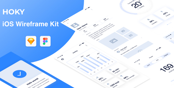 Hoky Mobile Wireframe Kit