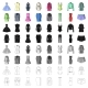 Women's Clothing Cartoon Icons in Set Collection - GraphicRiver Item for Sale
