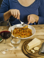 Eating traditional spaghetti bolognese - PhotoDune Item for Sale