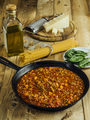 Table with traditional spaghetti bolognese ingredients - PhotoDune Item for Sale