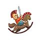 Spartan Kid Warrior on Rocking Horse - GraphicRiver Item for Sale