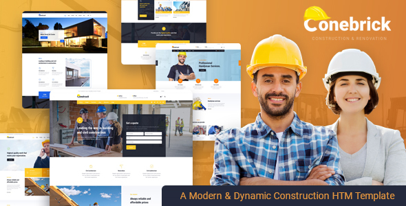 Conebrick - Construction Builder HTML5 Template