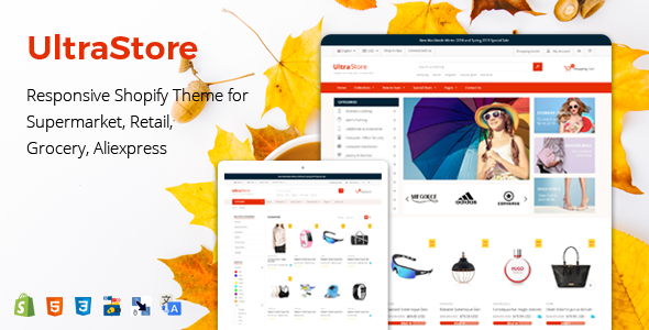 UltraStore - Responsive Shopify Theme for Supermarket & Retail store