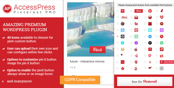 AccessPress Pinterest Pro - Pinterest Plugin for WordPress