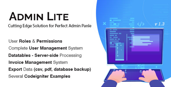 Admin Lite - PHP Admin Panel + User Management