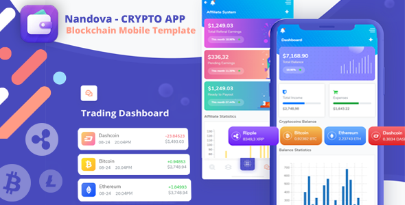 Nandova - Blockchain App & Crypto Wallet Mobile Template