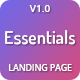 Essentials - High Converting SaaS Landing Page Template - ThemeForest Item for Sale