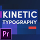 Kinetic Typography for Premiere Pro - VideoHive Item for Sale