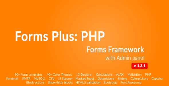 Form Framework with Admin Panel - Forms Plus: PHP