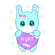 Suffering Rabbit In Yami Kawaii Style - GraphicRiver Item for Sale