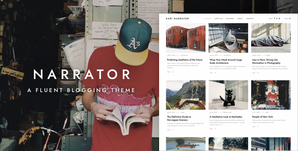Narrator — A Fluent WordPress Blogging Theme