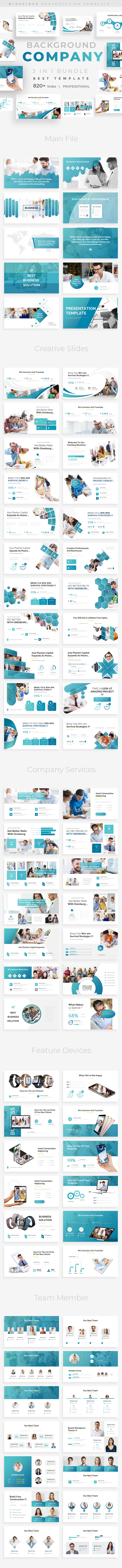 Company Background 3 in 1 Pitch Deck Bundle Powerpoint Template