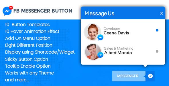 WP FB Messenger Button - Premium FB Messenger Button Plugin for WordPress