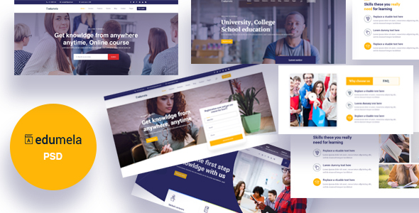 Edumela - Educational PSD Template