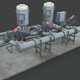 Machinery device. Pump station - 3DOcean Item for Sale
