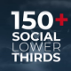 150+ Social Media Lower Thirds - VideoHive Item for Sale